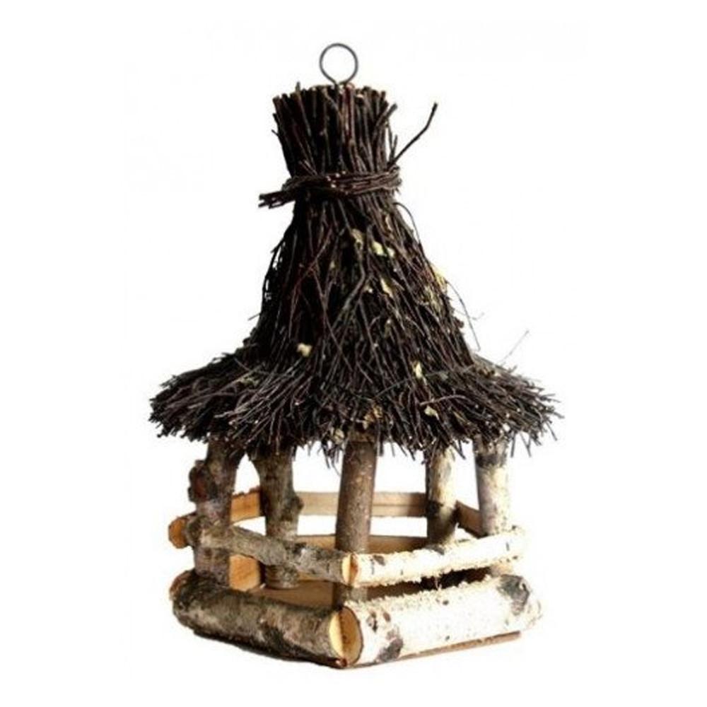 Voedertafel hangend - Berk met wilgen dak