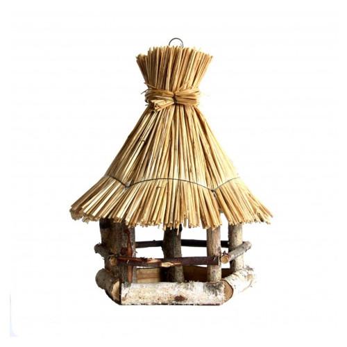 Voedertafel hangend - Stro dak