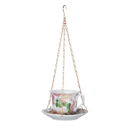 Vogelvoeder - Theekopje - Pioen rozen