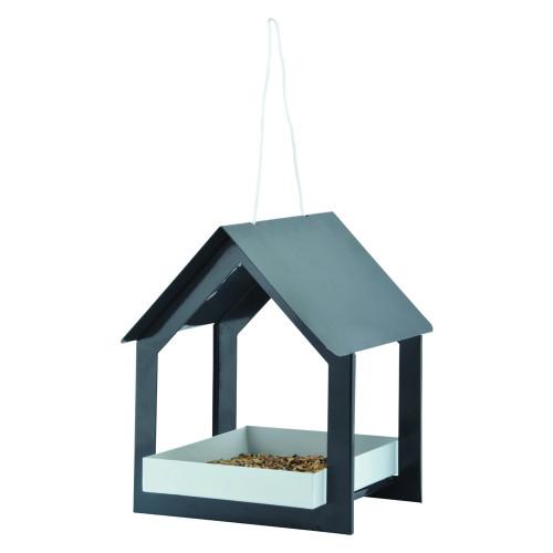 Hangende voedertafel Antraciet/wit design